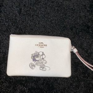 Coach special edition Mickey wristlet.